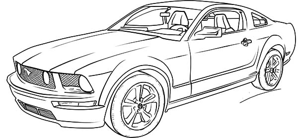 Charmant Ford Mustang GT Car Coloring Pages