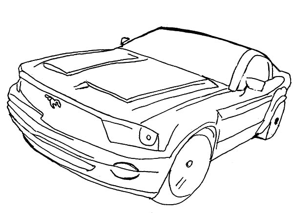 Car Mustang, : Ford Mustang Street Car Coloring Pages