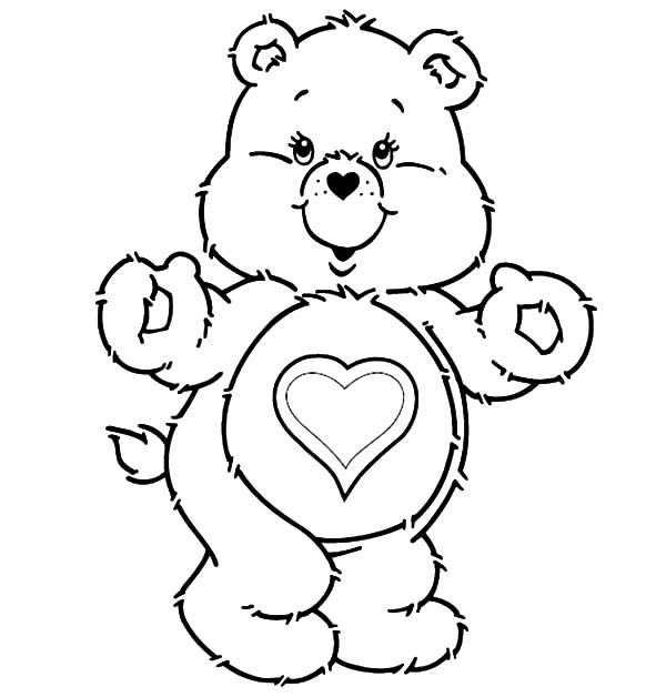 Funshine care bears coloring pages