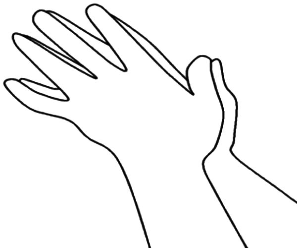Hands, : Hands Clapping Loud Coloring Pages
