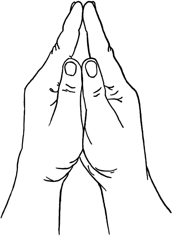 Hands, : Hands Coloring Pages for Kids
