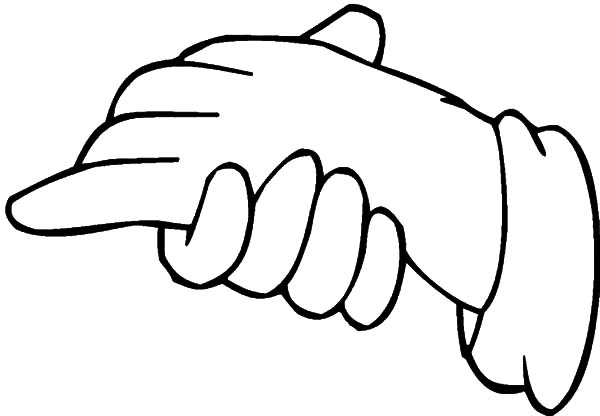 Hands, : Hands Coloring Pages