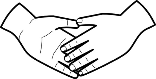 Two Pair Of Hands Coloring Pages Best Place To Color
