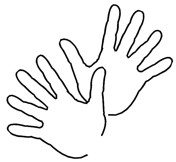 Hand Outline Pictures To Pin On Pinterest