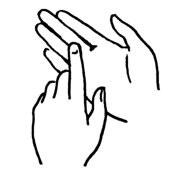 Hands, : Hands Sign for Mute People Coloring Pages