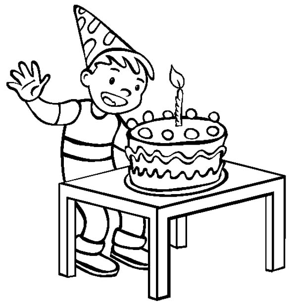 Birthday Boy, : Happy Birthday Boy Coloring Pages