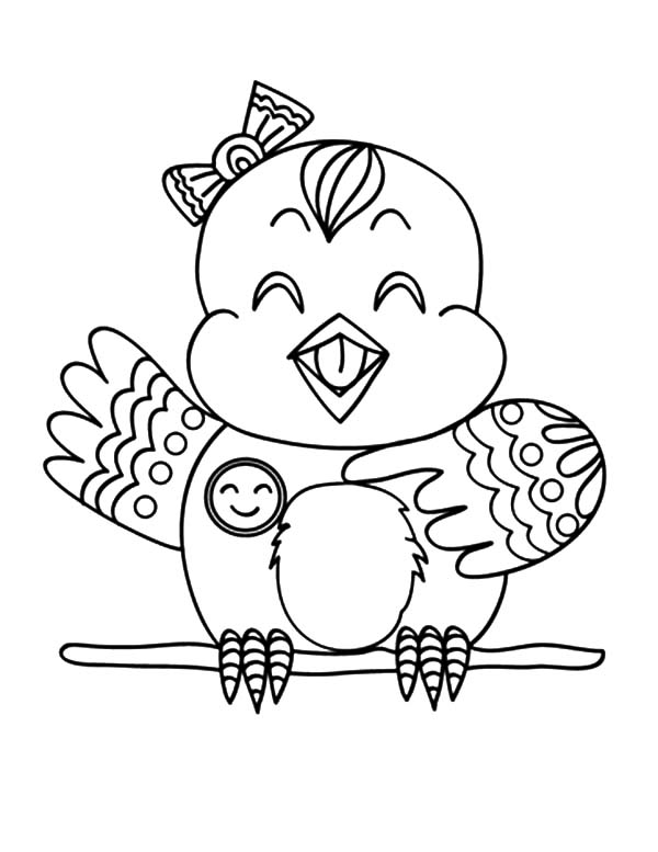 Canary Bird, : Happy Canary Bird Coloring Pages
