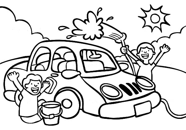 car wash coloring pages haci saecsa co