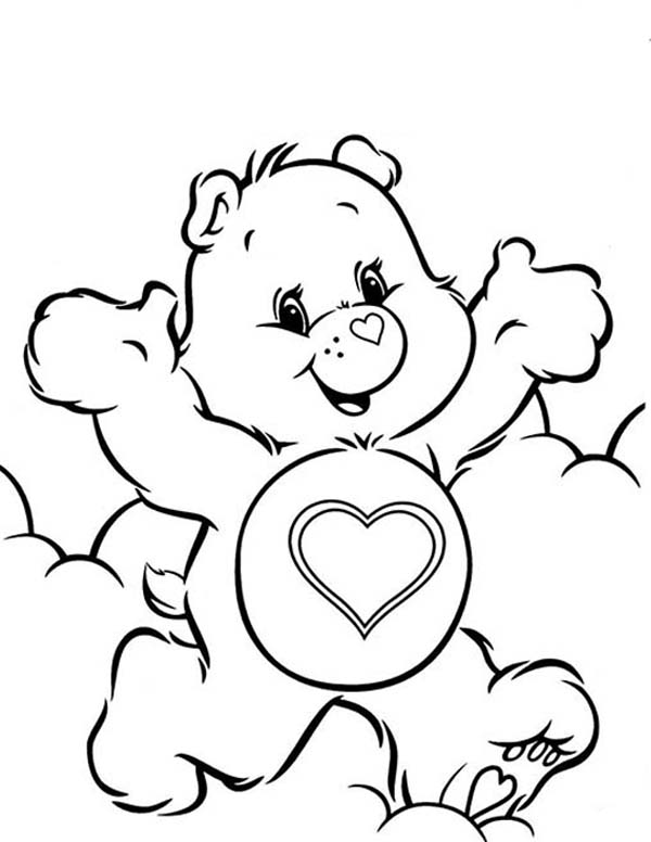 Care bears in front of toys shop coloring pages best for Care bears coloring pages