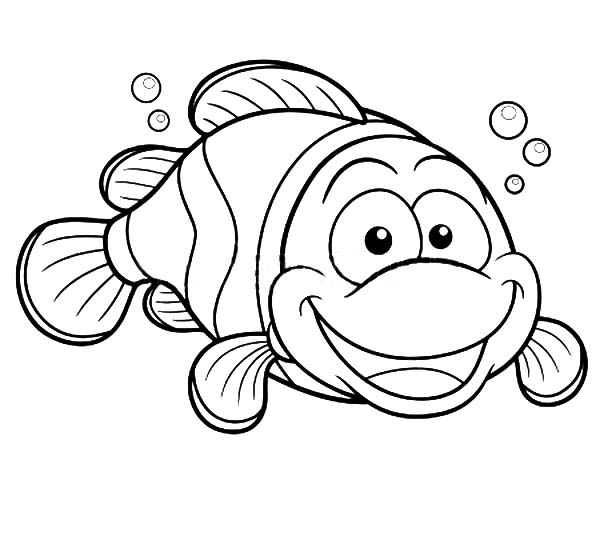 Free Coloring Pages Of A Clown Fish