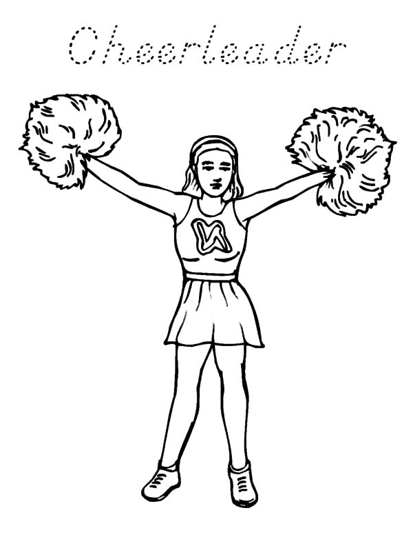 Cheerleader, : High School Cheerleader Coloring Pages