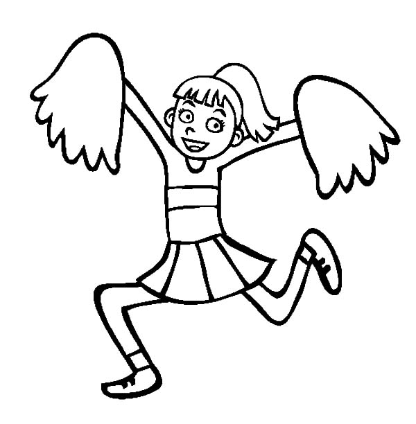 High Spirited Cheerleader Coloring Pages