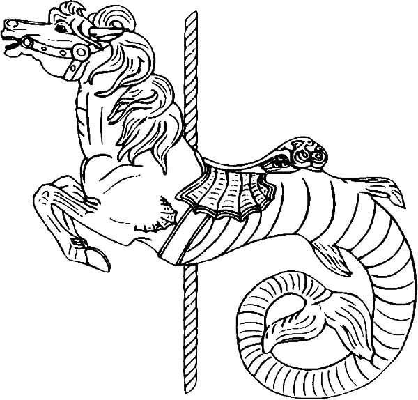 coloring pages carousel horse - photo#34