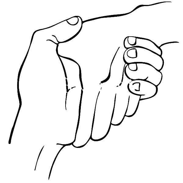 friends holding hands coloring pages - photo#11