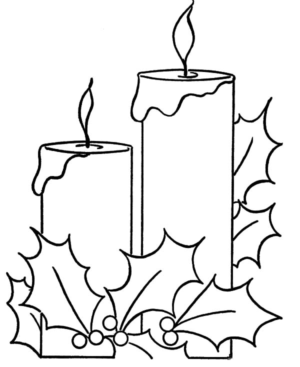 Candle, : Home Candle Coloring Pages