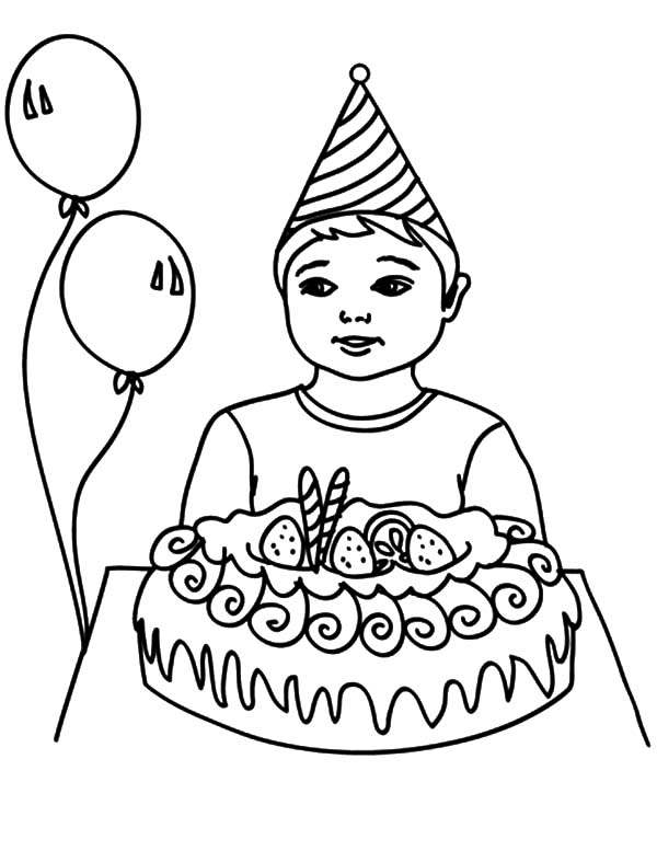 Birthday Boy, : How to Draw Birthday Boy Coloring Pages