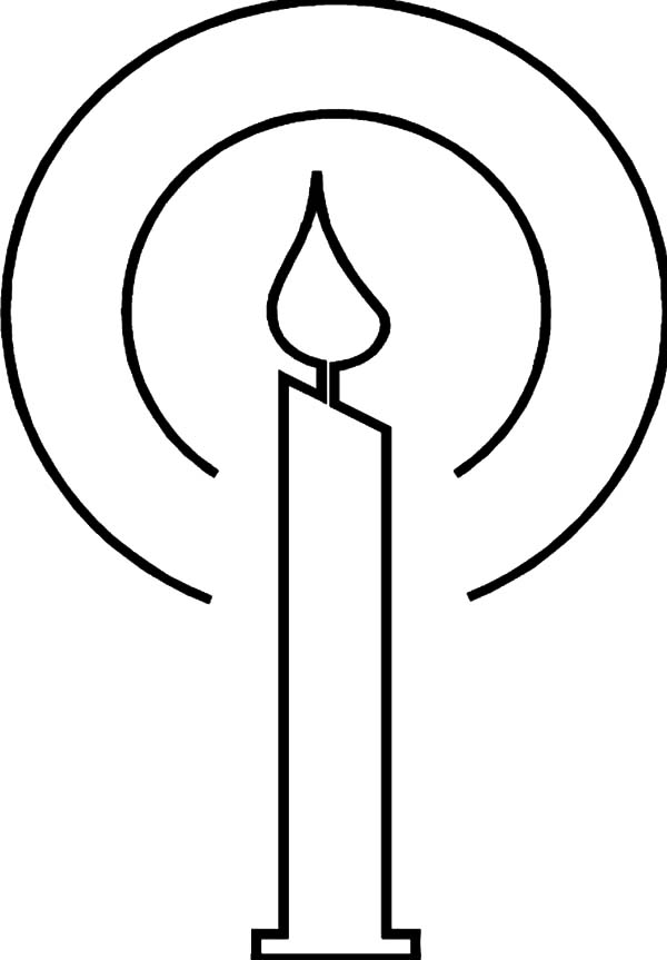 Candle, : How to Draw Candle Coloring Pages