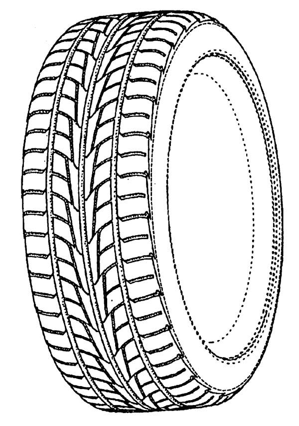 Car Tire, : How to Draw Car Tire Coloring Pages
