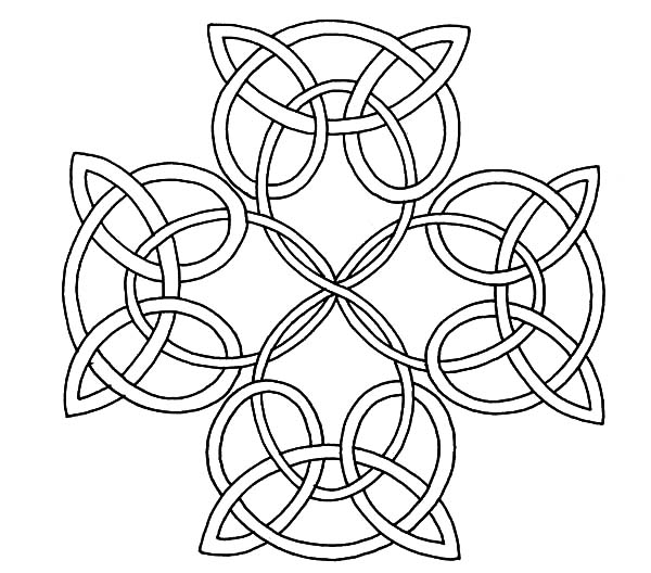 Celtic Cross, : How to Draw Celtic Cross Knot Coloring Pages