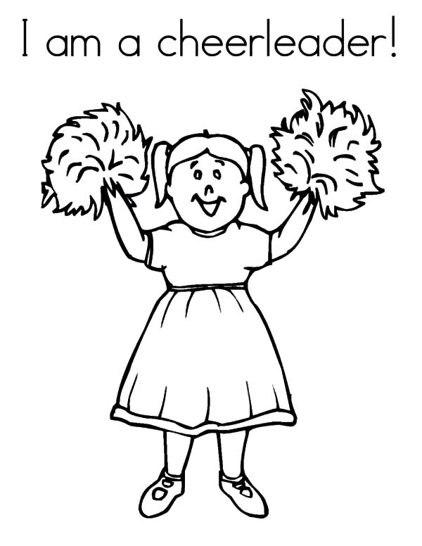 Cheerleader, : I am a Cheerleader Coloring Pages