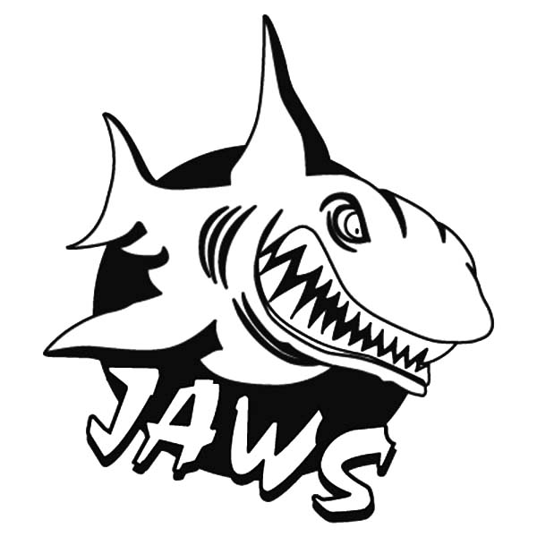 Jaws, : Jaws Logo Coloring Pages