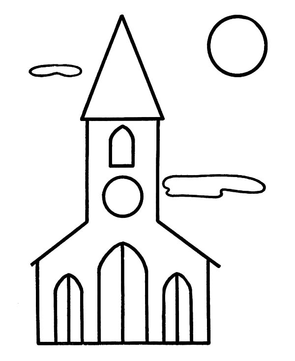 Church, : Jesus Christ Church Coloring Pages