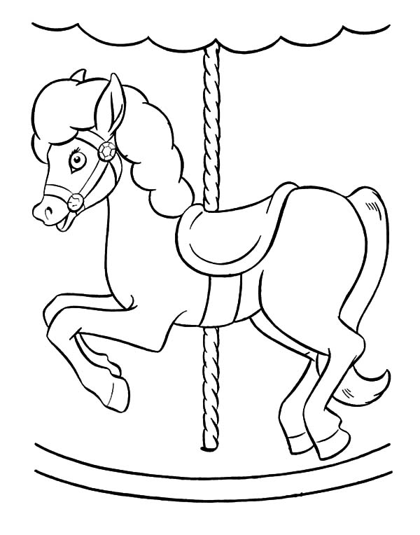 Carousel unicorn coloring pages sketch coloring page for Carousel horse coloring page