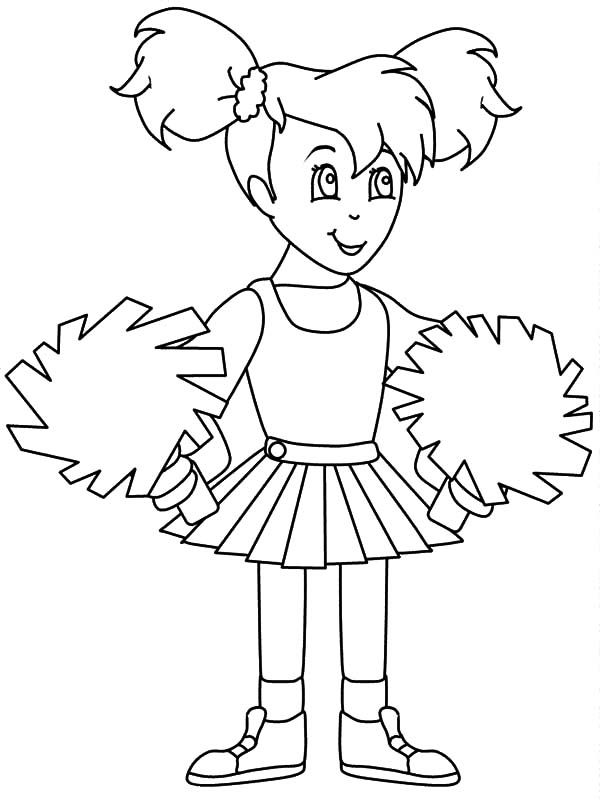 Little Girl Learn to be a Cheerleader Coloring Pages | Best Place to ...