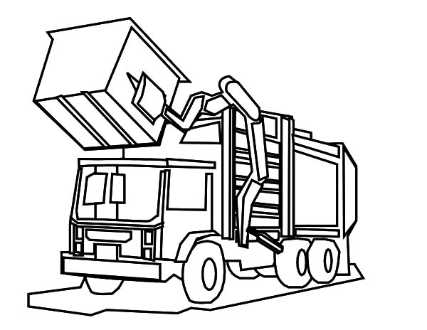 Car Transporter, : Machine Roller Car Transporter Coloring Pages