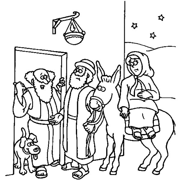 joseph mary coloring pages - photo#25