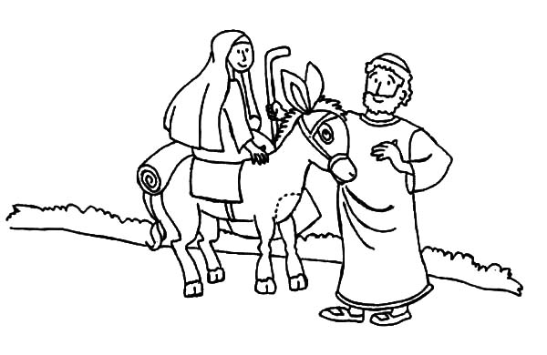 Mary And The Donkey Joseph From Nazareth Coloring Pages