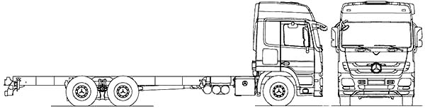 Car Transporter, : Mercedes Benz Acrors 6x4 Rigid 2010 Car Transporter Coloring Pages