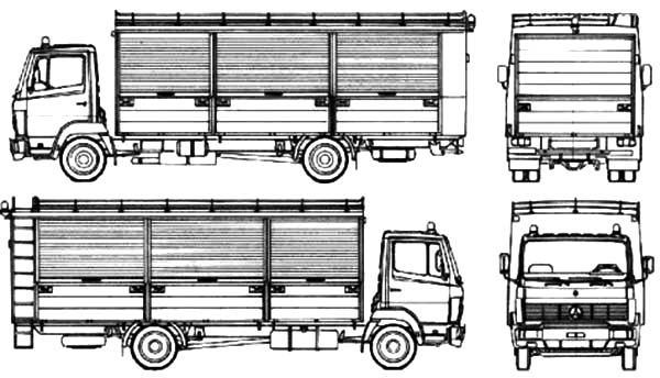 Car Transporter, : Mercedes Benz Car Transporter Coloring Pages