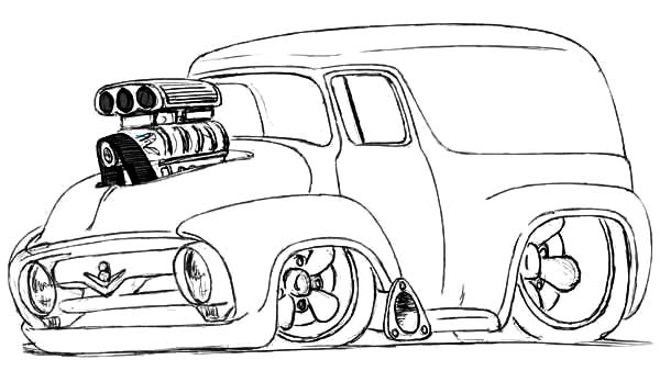 modified chevy cars coloring pages - Hot Rod Coloring Pages