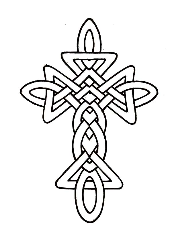 Celtic Cross, : Morphed Celtic Cross Coloring Pages