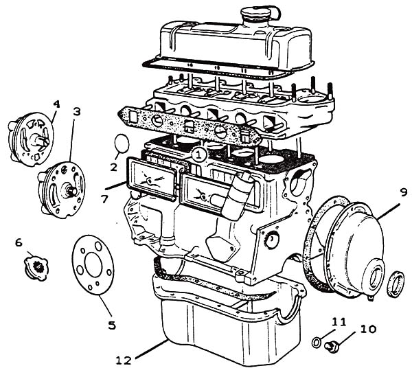 Car Parts, : Morris Minor Engine Parts Car Diagram Coloring Pages