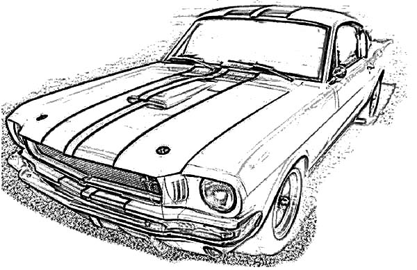 Car Mustang, : Mustang Car GT 350 Coloring Pages