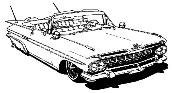 Lowrider Car Coloring Pages Sketch Coloring Page