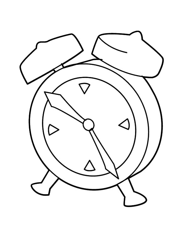 Clock, : My Favorite Clock Coloring Pages
