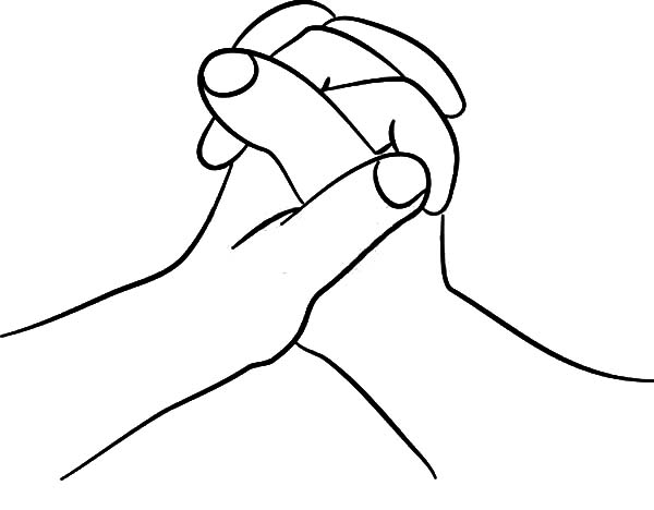 Hands, : My Hands Coloring Pages