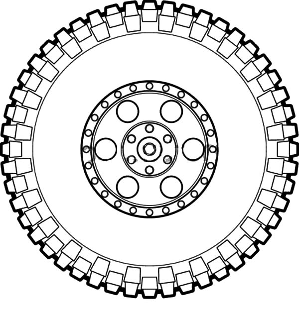 Car Tire, : Off Road Car Tire Coloring Pages