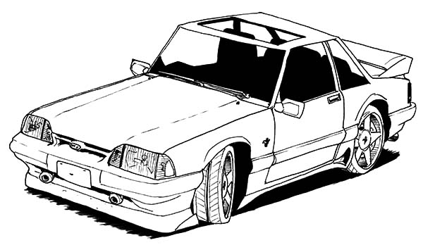 Car Mustang, : Old Car Mustang Coloring Pages