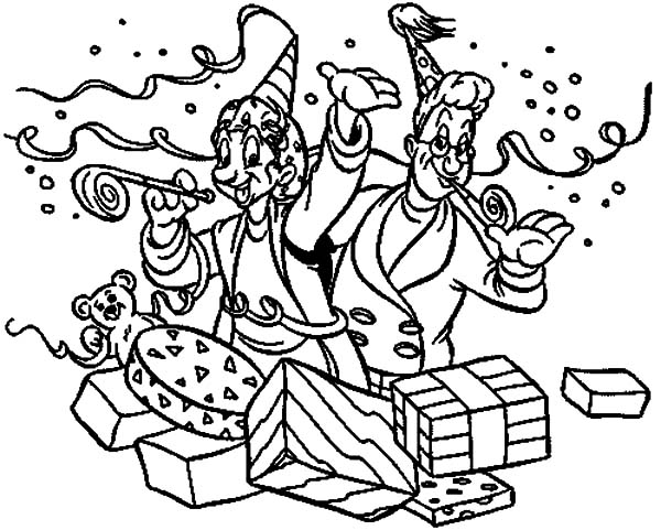 Carnival, : Opening Carnival Present Coloring Pages