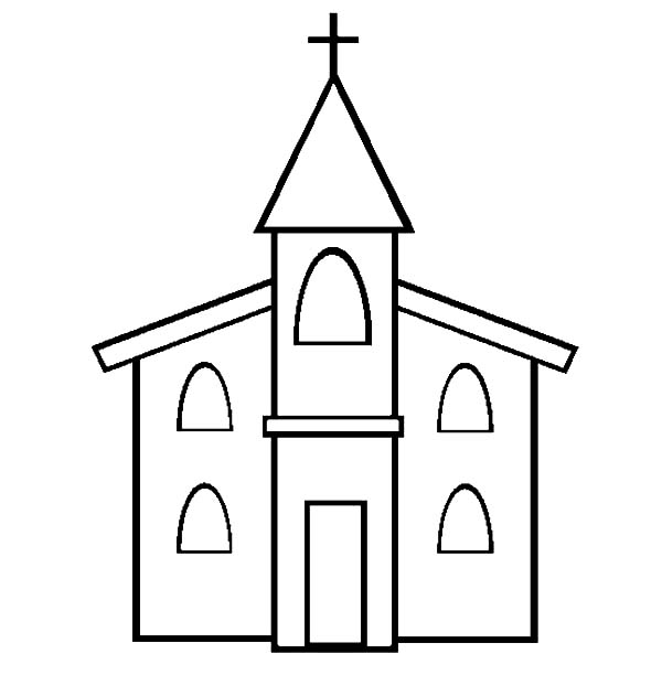 Church, : Picture of Church Coloring Pages