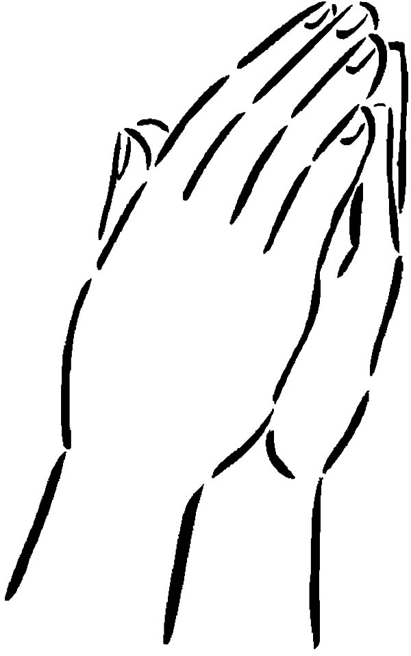 Hands, : Praying to God Hands Coloring Pages