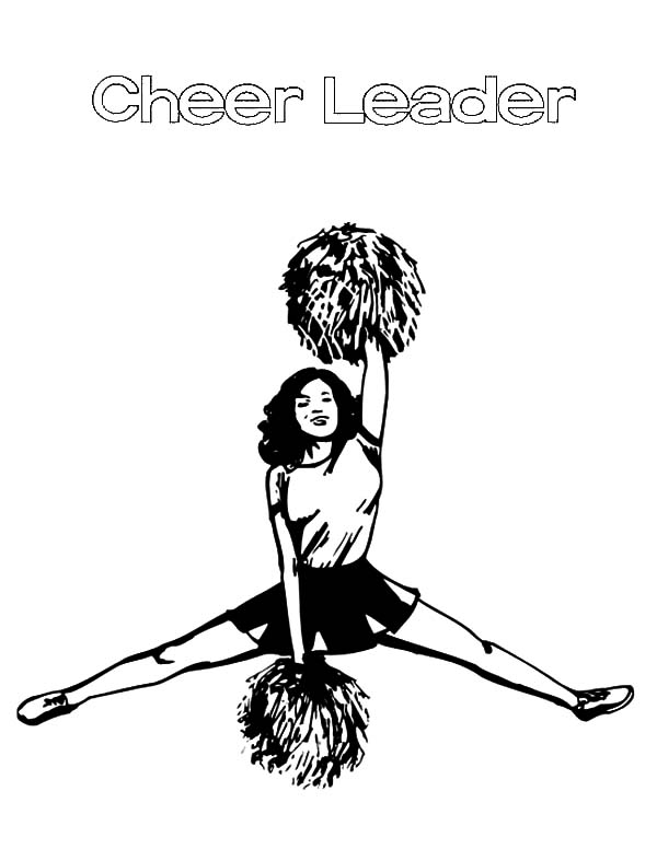 Cheerleader, : Professional Cheerleader Coloring Pages