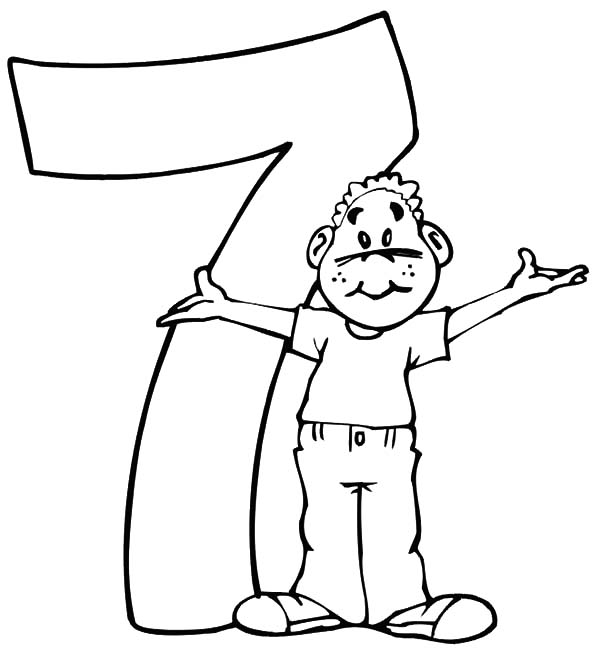 Birthday Boy, : Seventh Birthday Boy Coloring Pages