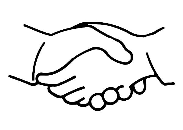 Hands, Shaking Hands Coloring Pages: Shaking Hands Coloring Pages