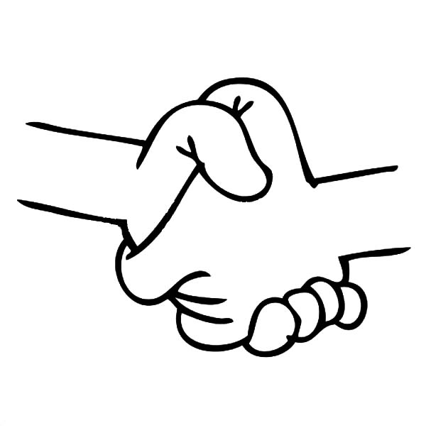 friends holding hands coloring pages - photo#19