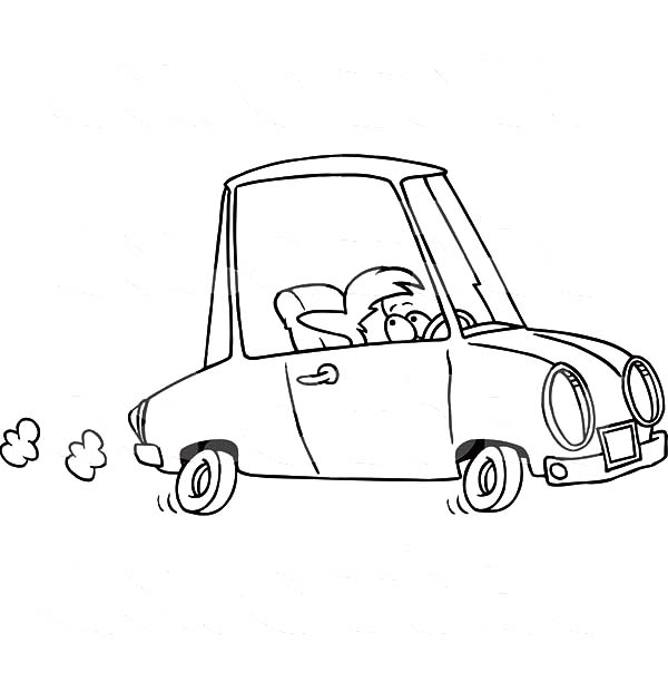 Car Driving, : Short Woman Driving Car Coloring Pages